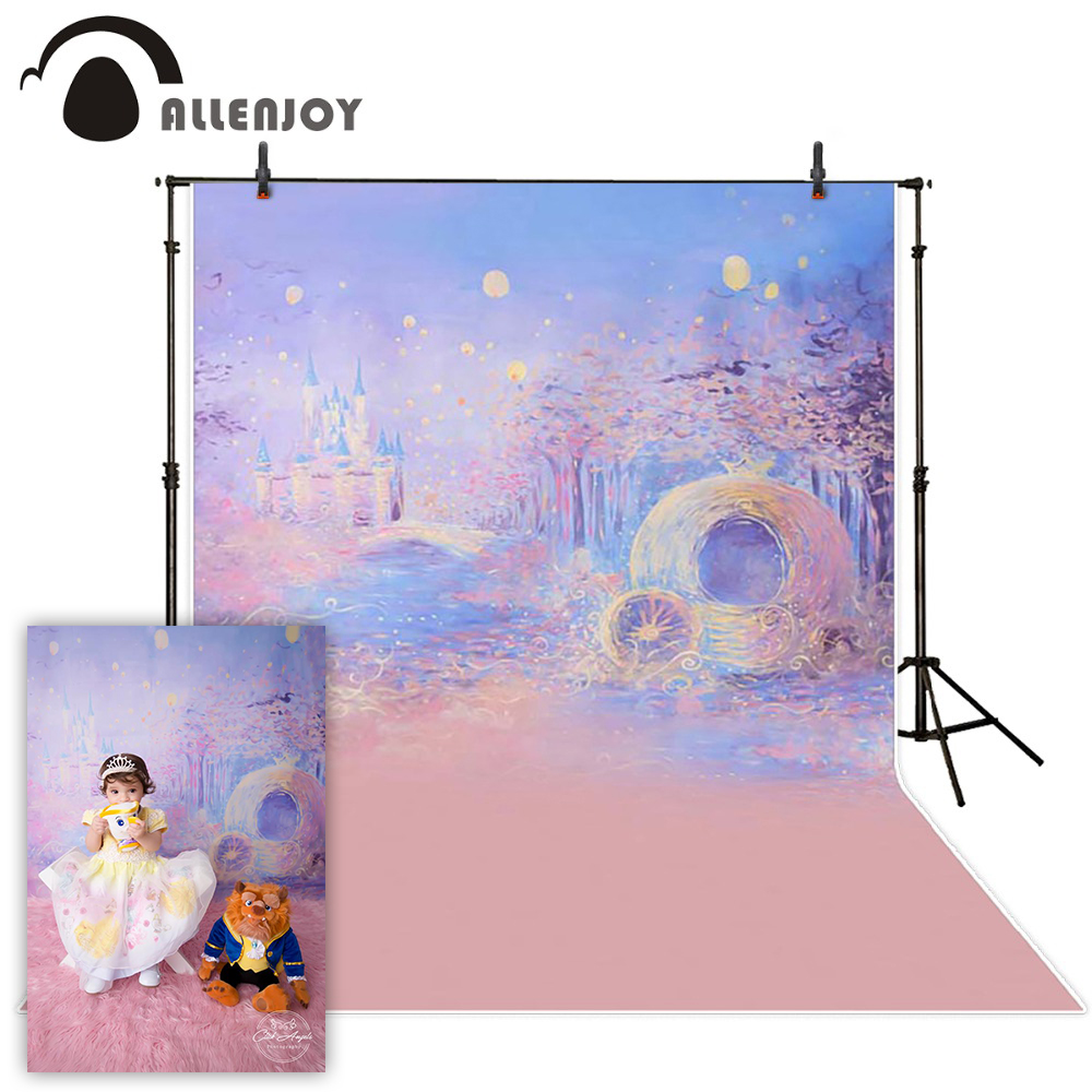 Allenjoy Photography background Blue bokeh background night castle boy girl summer backdrops for photo studio camera fotografica