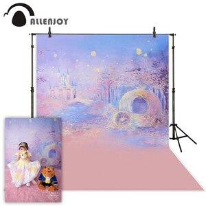 Image 1 - Allenjoy photographie fond bleu Bokeh fond nuit château garçon fille été décors pour Photo Studio caméra Fotografica
