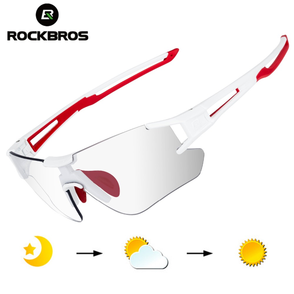 ROCKBROS Cycling Wrap Sunglasses Men's Photochromic Sport Glasses Outdoors UV400 Bicycle Outdoor Sports Eyewear Glasses Goggles(China)