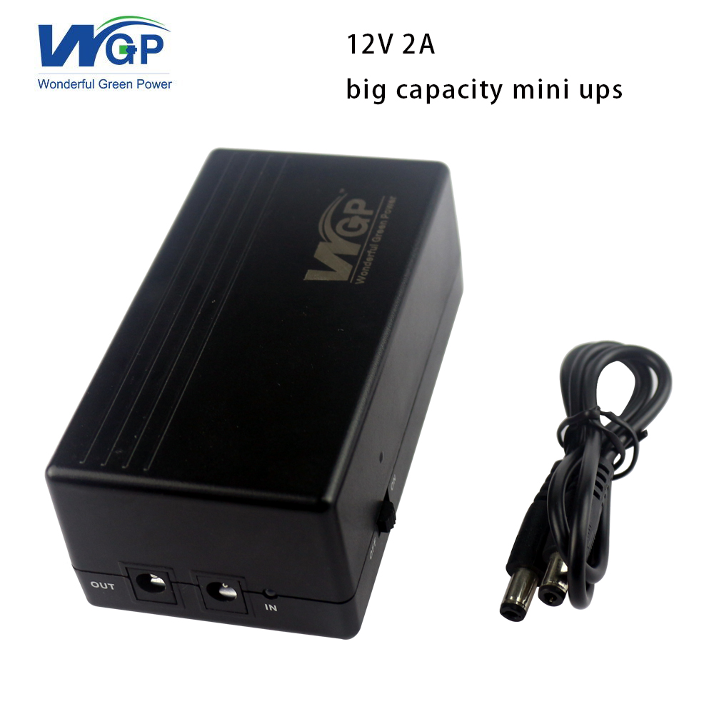 New products short circuit protection 6600mAh uninterruptible power source 12 volt mini <font><b>ups</b></font> with lithium ion battery inbuilt