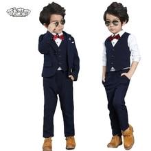 Flower Boys Formal Suit Wedding campus student Performance Dress Gentleman Kids
