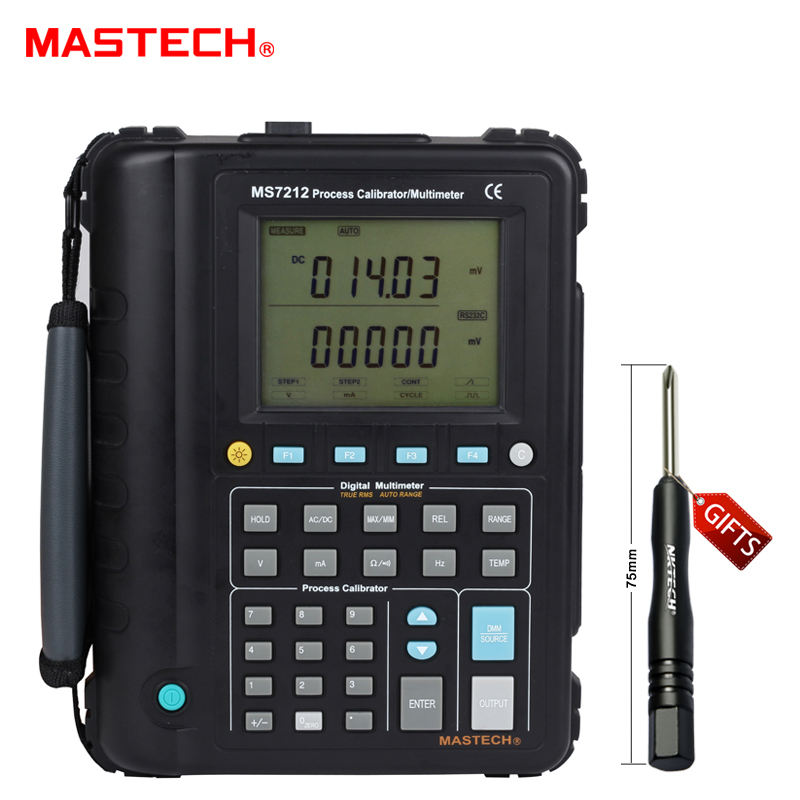 Multifunction MS7212 Process Calibrator / Correction Voltage And Current Frequency Temperature Resistance