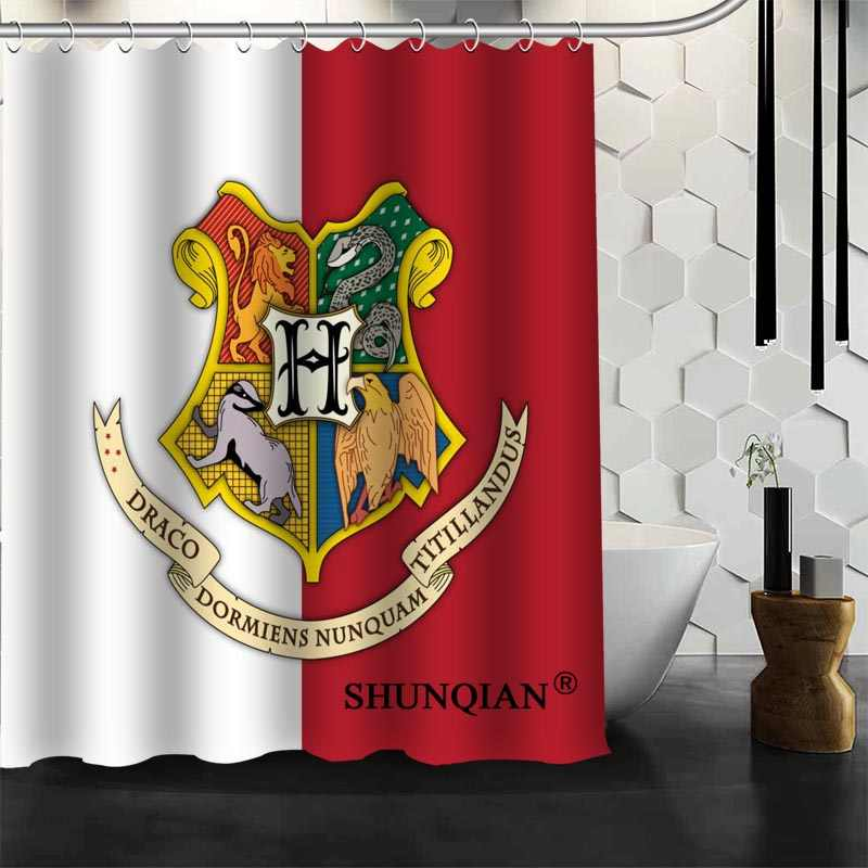 b88fe8e4b6b Custom Harry Potter Hogwarts Shower Curtain Bathroom Accessories Polyester  Fabric With Holes
