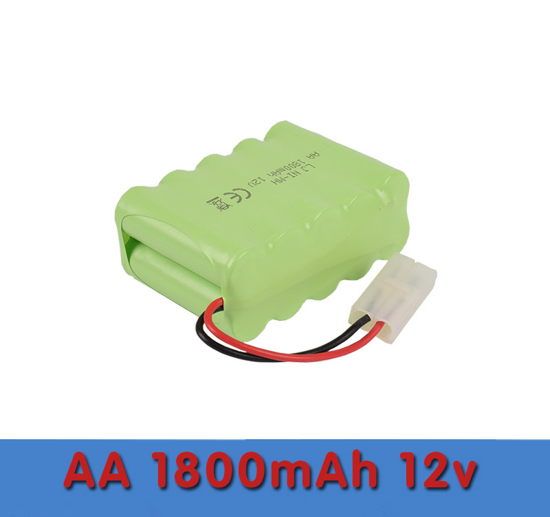 Cncool 1pack Brand new Original NI-MH Battery 12V 1800MAH NI-MH AA Rechargeable Battery With Wires