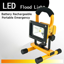 Flood Lights Rechargeable led floodlight Rechargeable Lithium-ion Battery 10wFlood Lamp Portable Flood light lamp Ip65 90-260v