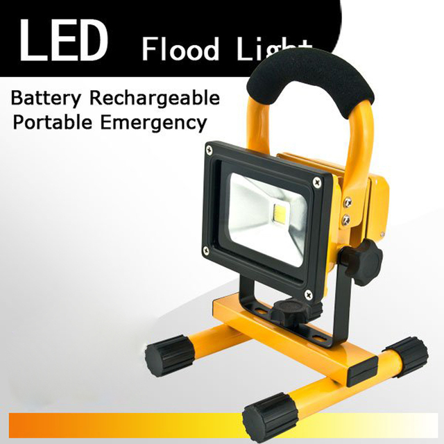 2017 Promotion New CCC Flood Lights Rechargeable Led Floodlight Lithium-ion Battery 10w flood Lamp Portable Light Ip65 90-260v