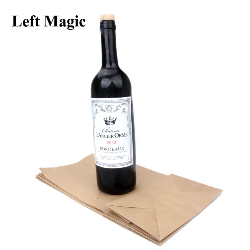 New Vanishing Champagne Bottle Magic Tricks Wine Bottle Stage Close Up Magic Props Gimmick Vanishing Wine Professionam