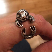 Wholesale Retro Sloth Ring Animal Ring Adjustable Free Size gift idea-12pcs/lot( 2 Colors Free Choice / Collocation )