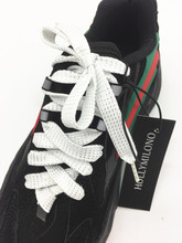 SHOE ACCESSORY ADULTS CHILDREN WHITE LACET SHOELACES FOR MEN BOYS WOMEN GIRLS TEENAGERS LENGTH 110CM/3.6FT WIDTH 1CM/0.4IN