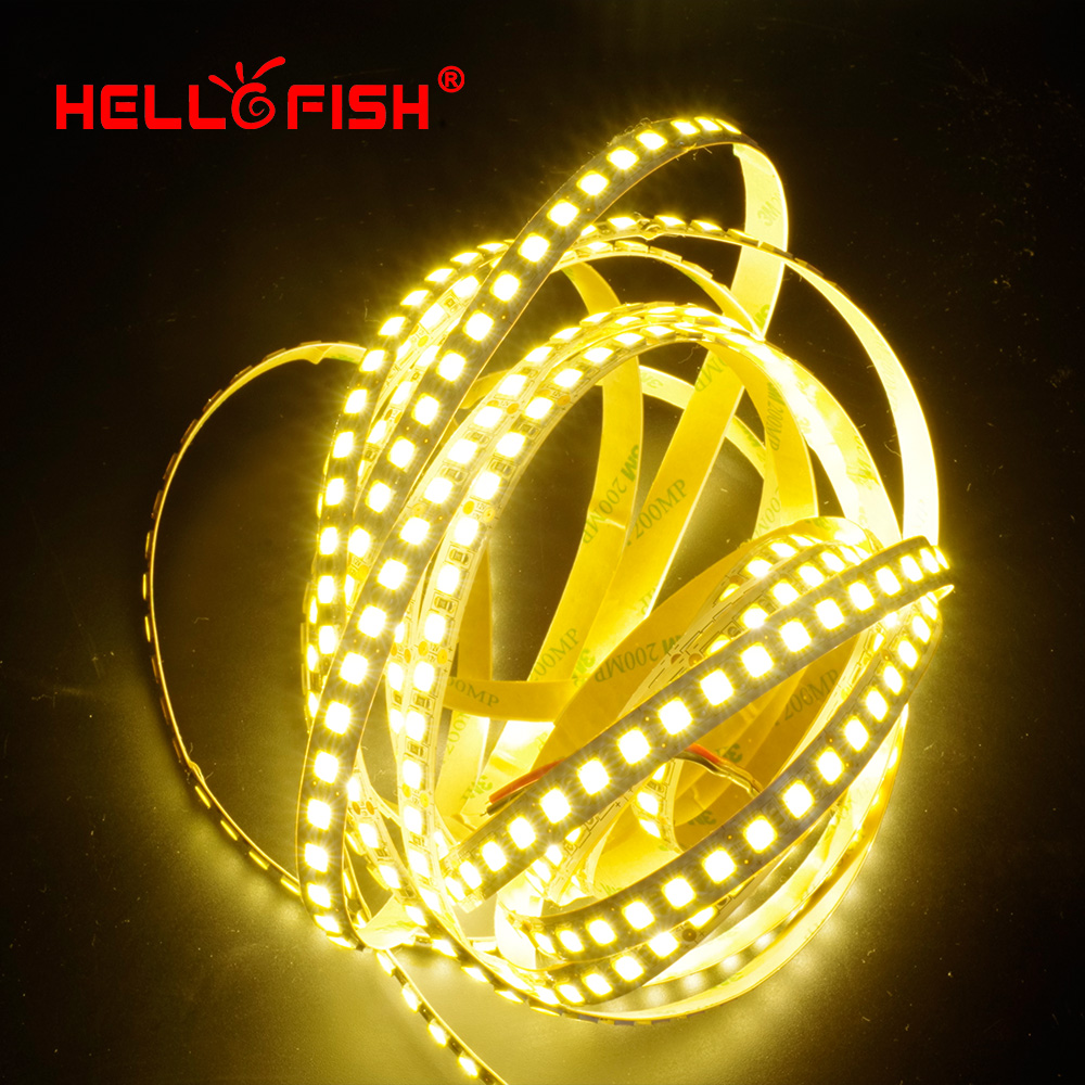 Hello Fish 5m 600 LED 5054 Highlighted LED sttrip, 12V flexible light 120 led/m High brightness LED strip white/warm white