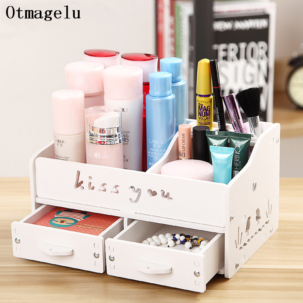 Us 31 09 47 Off Stylish Makeup Brush Storage Box Beautiful Cosmetic Case Lipstick Holder Small Objects Accessories Box Desktop Decor Organizer In
