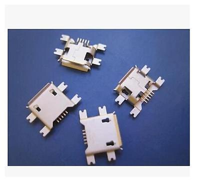 10Pcs Micro USB Type B Female 5Pin Socket 4Legs SMT SMD Soldering Contor