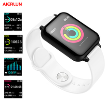 Aierlun B57 умный Браслет Смарт-часы сердечного ритма шагомер Обнаружение сна 0,96 дюймов OLED цветной экран для Iphone и Android