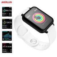 Aierlun B57 Smat Bracelet montre intelligente fréquence cardiaque podomètre détection du sommeil 0.96 pouces OLED couleur écran pour Iphone et Android