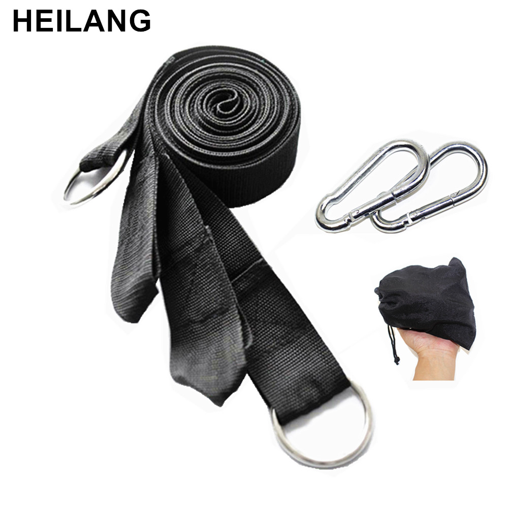 300cm Can Hold 200kg OutDoor Camping Hiking Hammock Hanging Belt Hammock Strap Rope with Metal Buckle Load Bind Rope
