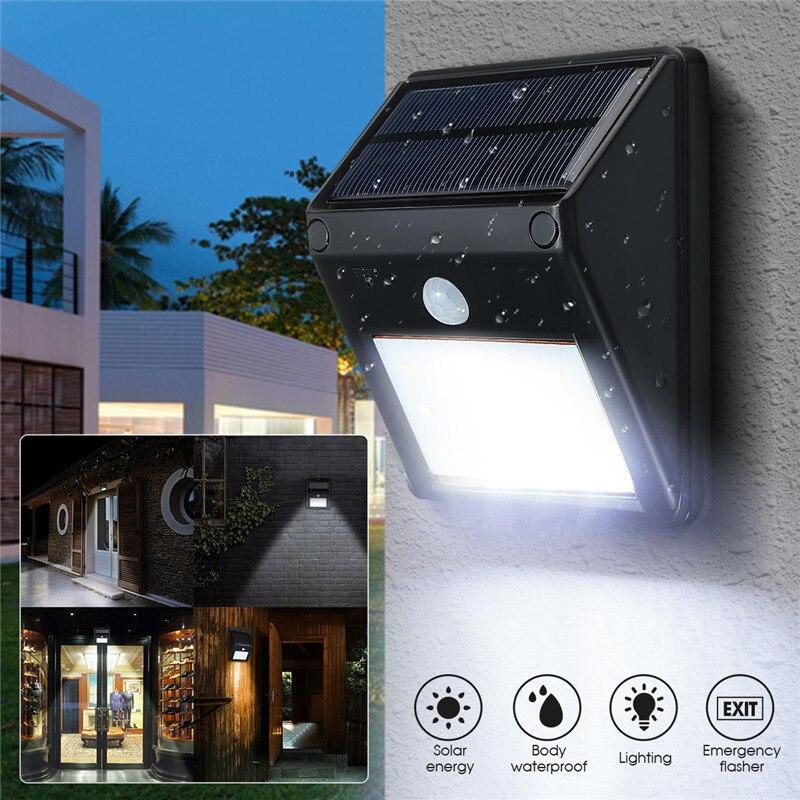 Mising 12 LED Solar Power PIR Motion Sensor Wall Light En Plein Air Étanche Rue Économie D'énergie de Jardin Chemin Jardin Lampe de Sécurité