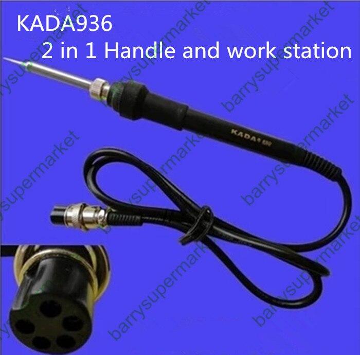 Longue vie HAKKO 937 936/KADA 220 V 60 W 852D + Thermostat travail station fer À Souder 2 in1 poignée et poste de travail Électrique fer