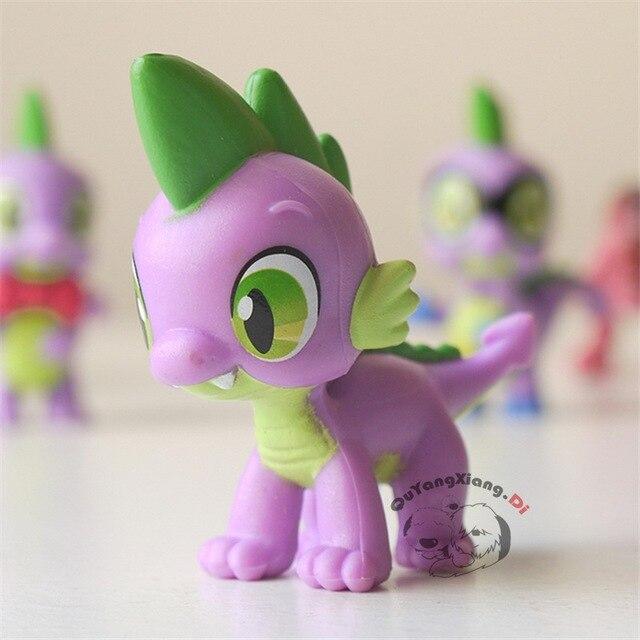 Figuras de ação 5 cm Bonitinho Cavalo Modelo Boneca Anime Brinquedos Crawl Spike O Dragão Brinquedos para As Crianças