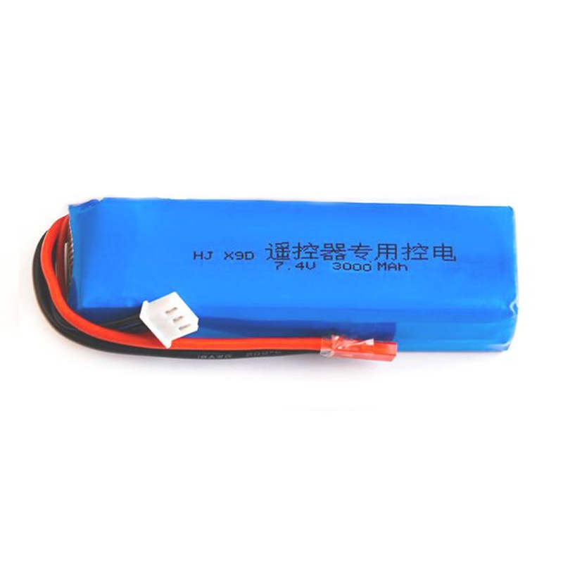 In Stock! 2S 7.4V 3000mAh Upgraded Lipo Battery for Frsky Taranis X9D Plus RC Transmitter TX Remote Controller Spare Parts Power