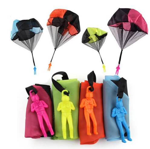 mini parachute Hand throwing kids Mini Play Parachute Toy Children Educational Toys Kids Outdoor Games Soldier Outdoor Sport