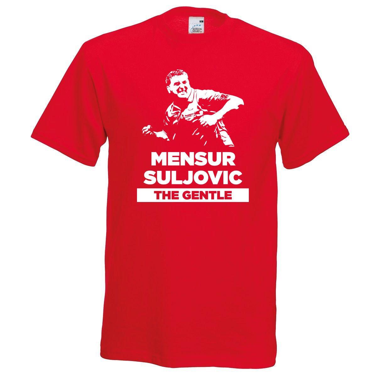 Mensur Suljovic The Gentle Darts Red T-Shirt Unisex S-XL Premier League 2018