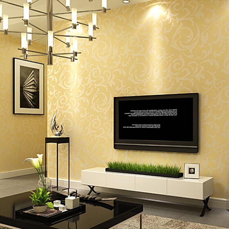 Modern 3D Embossed Wallpaper Roll Non Woven Glitter Wall Paper For ...
