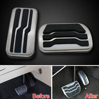 Racing Fuel Gas Brake Foot Reast Pedal Pad Cover Plate Fit For Ford Edge 2015 No