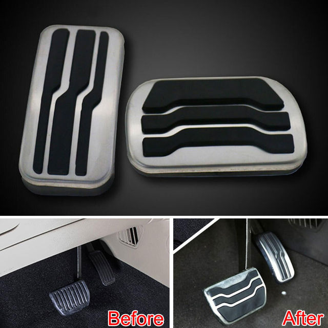 Racing Fuel Gas Brake Foot Reast Pedal Pad Cover Plate Fit For Ford Edge  No