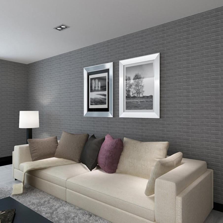 60x30x0 8cm Pe Foam Brick 3d Wall Stickers Safty Home Decor Wallpaper Diy Wall Decor Living Room