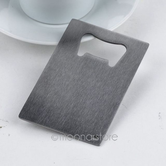 High quality 1 Piece  Wallet Size Stainless Steel Credit Card Bottle Opener Business Card Beer Openers