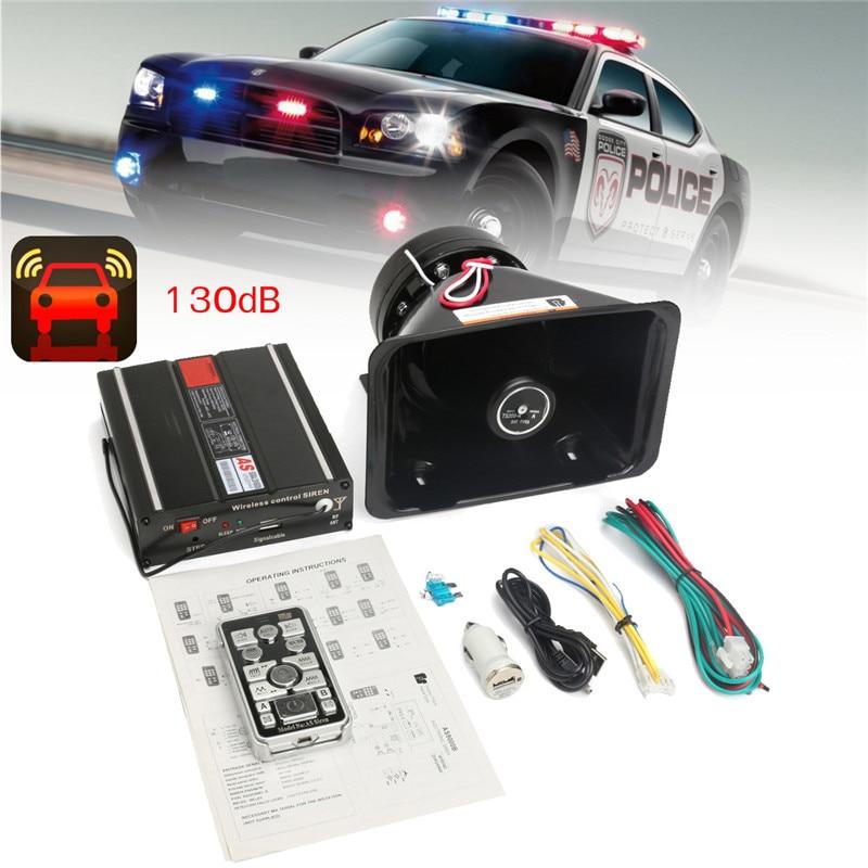 Alarme de voiture sirène klaxon Auto Ambulance 18 son voiture fort avertisseur sonore klaxon Loudhailer système bluetooth télécommande sans fil