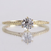 New S925 Silver With Yellow Gold Plated Ring For Women Wedding Ring Engagement Ring White Topaz