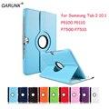 Para samsung galaxy tab 2 p5100 p5110 p7500 p7510 10.1 pulgadas tablet case 360 rotación soporte folio funda de cuero protectora de la tableta cubierta