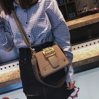 Spring and summer new fashion trapeze ribbon shoulder bag all match female bag buckle popular crossbody Messenger bag