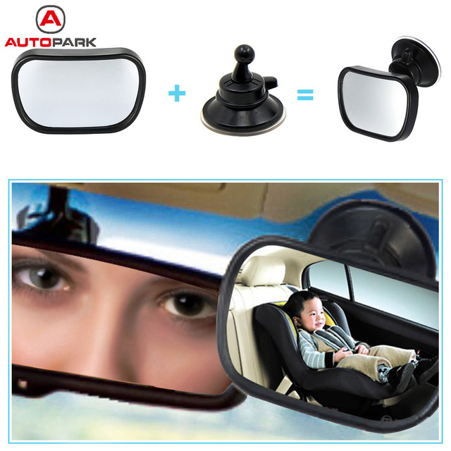 Mini Car Back Seat Baby View Mirror 2 in 1 Baby Rear Convex Mirror Adjustable Car Baby Kids Monitor Safety Reverse Safety Seat