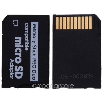 Mini Micro SD Card Adapter to MS Card MS Pro Duo Adapter TF Card Reader Memory Stick Converter Card Case