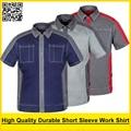 De los hombres de Alta calidad duradera de Poli algodón de manga corta camisa de trabajo ropa de trabajo ropa de trabajo chaqueta
