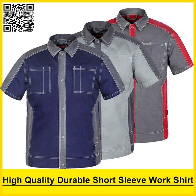 Men's High quality durable Poly cotton short sleeve work shirt work clothing workwear work jacket