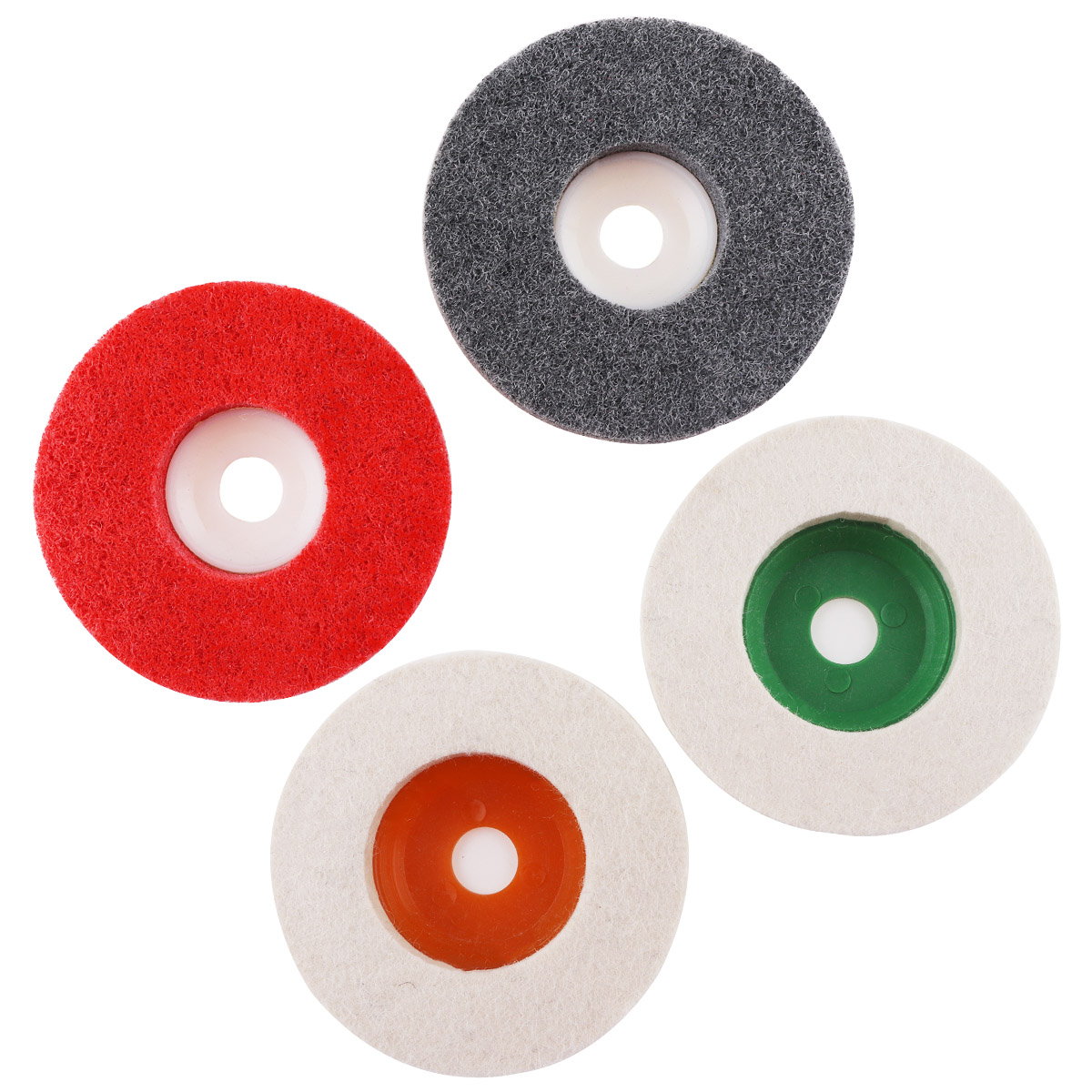 4pcs/lot  Multifunction Wool Polishing Disc Pads And Nylon Wheels With 100mm External Diameter And 16mm Inner Diameter