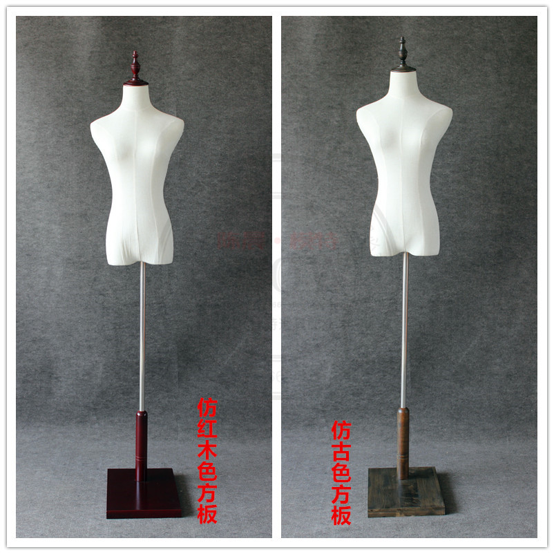 High quality props half body female mannequin clothes display mannequin thick hemp cotton cloth women fabric mannequin