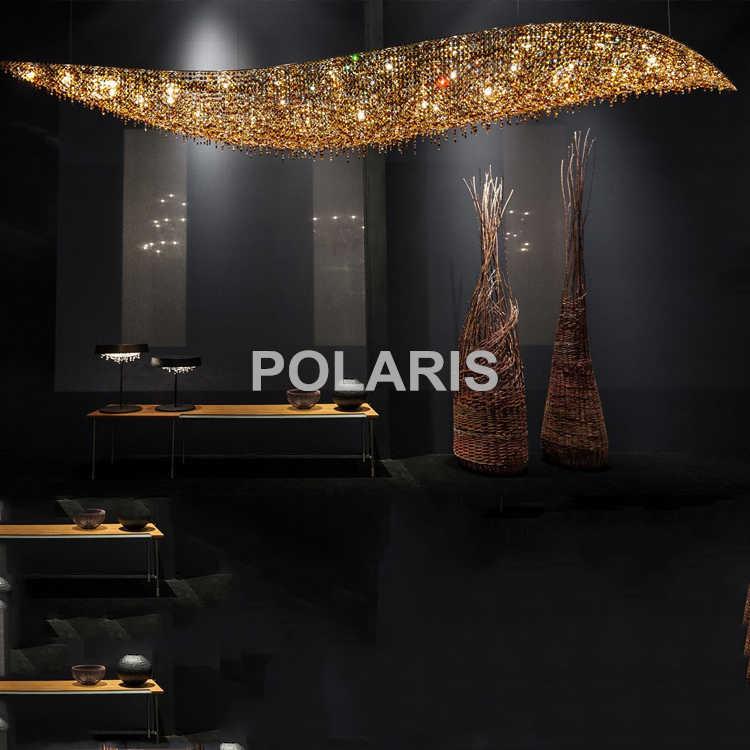 Современный роскошный светодиодный привести Хрустальная люстра освещение подвесные светильники/лампы для Вилла Обеденная отель украшение для центрального элемента