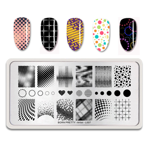 Image 2 - BORN PRETTY Nail Stamping Plates Maple Leaf  Design Stainless Steel Rectangle Nail Stamp Stencils Pattern