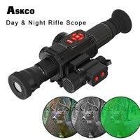 Askco инфракрасное ночное видение Riflescope видео рекордер gps WiFi Компас HDMI с ИК осветитель день и ночь для охоты область