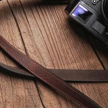 حزام كاميرا من الجلد الأصلي مصنوع يدويًا من Mr. stone حزام كتف للكاميرا
