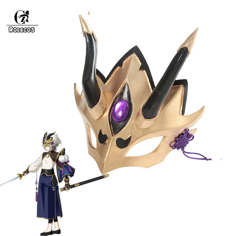 ROLECOS FGO Prince of Lanling Cosplay Mask Fate Grand Order Cosplay Headwear Game Fate Cosplay Lan