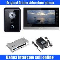 Оригинальный английский POE IP видео домофон крытый цветной монитор DH VTH1510CH с IP вилла Открытый станции DH VTO6210B комплект