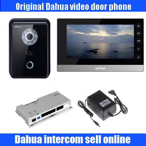 Original english POE IP Video Intercom system Indoor color Monitor DH-VTH1510CH with IP Villa Outdoor Station DH-VTO6210B kit ...