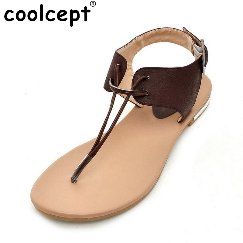 Fashion Women Shoes Genuine Leather Slippers Female Flat Sandals Casual Flip Flops Flat Beach Shoes Footwear Size 34-39 PA00294 gold chain party 2017 spring summer casual shallow slip on square toe bling square heels women pumps free ship mujer pantufa