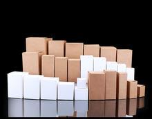 50pcs/lot 4*4*8cm Blank White Black Kraft Gift Box Cosmetic