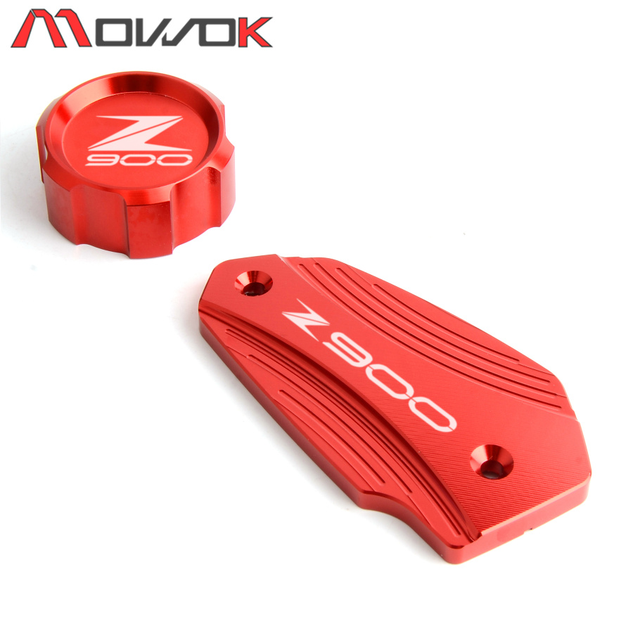 Hot Sale Motorcycle CNC Front & Rear Brake Fluid Cylinder Master Reservoir Cover Cap For KAWASAKI Z900 2017 2018 2019